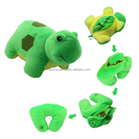 Lovely anmial Microbeads pillow Filling Transformative neck Pillow Multofunctional plush Toys Safe Comfortable Cushion Turtle