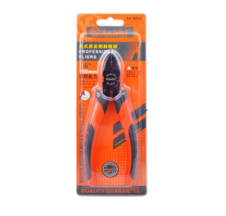 AK-8039 Combination pliers with double color handles for sale
