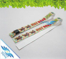 colorful personalized one time use sublimation satin wristband