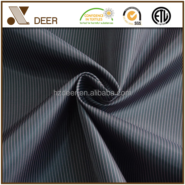 Polyester Two Tone Stripe Patterned Satin Lining Fabric