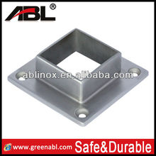 Stainless steel square post base plate