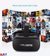 New experience vr box 3d glasses virtual colorful red blue 3d movies