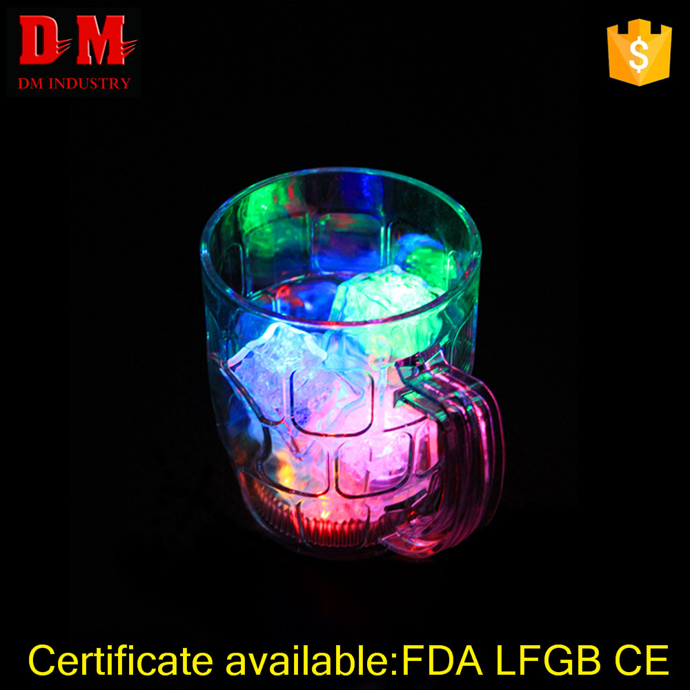 Eco-Friendly Insulated Wholesale 300ml PS Led Handle Glass Cup Mug