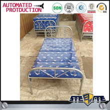 Portable army folding single bed from China