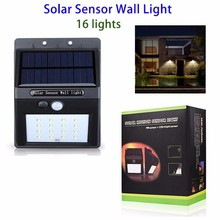 Outdoor Light-Controlled LED Solar Motion Sensor Security Wall Night Light