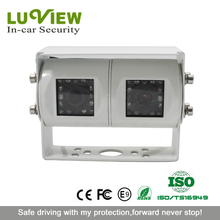 Night Vision 28pcs LEDs Wide Angle Waterproof Car Reversing Twin Lens Camera for Heavy Truck