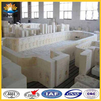 Fused High Zirconia Alumina Clay Bricks For Glass Furnace Channel