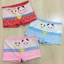 Manufacturer Kids Panties Model Cotton Cute Panda Print Pattern Girls Kids Underwear Wholesale