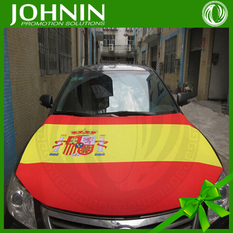 Hot sell Stretch fabric car engine hood covers flag with custom designs