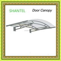 DIY canopy awning with stainless steel and polycarbonate sheet