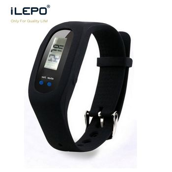 Calorie function step count display clock and pedometer function Life waterproof silicon wristband