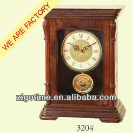 Wooden pendulum antique table Clock