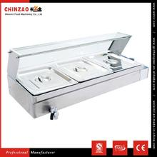CHINZAO Simple Style Reataurant Cooking Equipment Stainless Steel Bain Marie