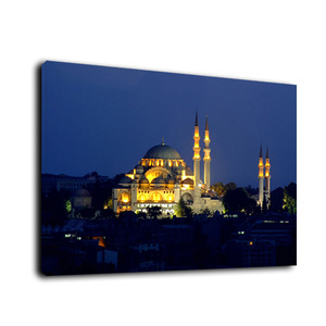 Light Up Wall Decor LED Light Canvas Painting Sultans Mosque HD Picture Print On Canvas