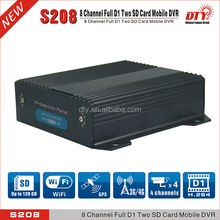 China DTY 8 channel 128gb sd card mobile dvr with gps,4g ,S208-4GW