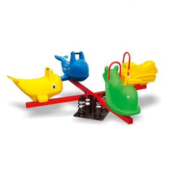 Children funny plastic spring playground sets animal seesaw seat HF-G216K