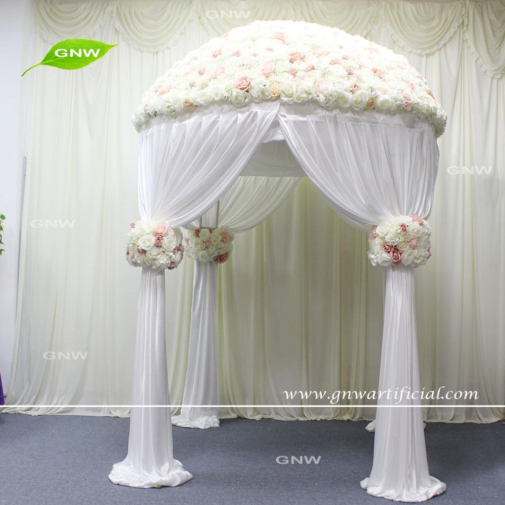 GNW FLWA170906-001 7ft Brown rattan with flower arched door for wedding