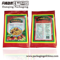 Hot sale spices and sauce packaging plastic bag, three sides sealed packaging bag