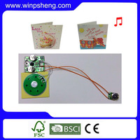 Good sound quality customized audio greeting card music chip