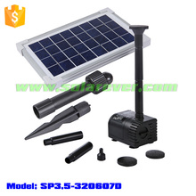 Use cost free 3ft head 80GPH flow rate brushless solar submersible water pump (SP3.5-320607D)