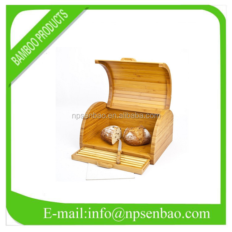 hot sell bamboo bread storage box