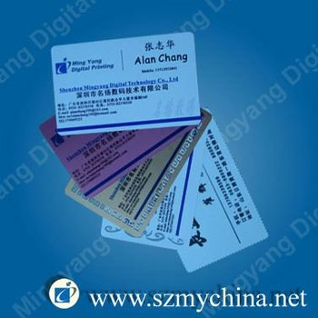 high quality metal business card with sublimation coat