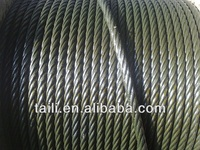 point contacted and ungalvanized steel wire rope