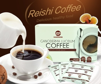 Wholesale 2 In 1 Organic Gold Ganoderma Instant Black Coffee With Reishi Extract
