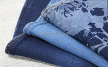 China textile indigo four way stretch knit technics denim like fabric