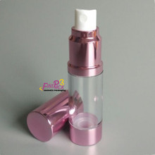 cosmetic packaging use 15ml rose gold airless bottle