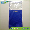 Customized clear plastic suit cover bag with gusset