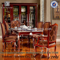 2015 YB06 wooden luxury dinning room set dining table set