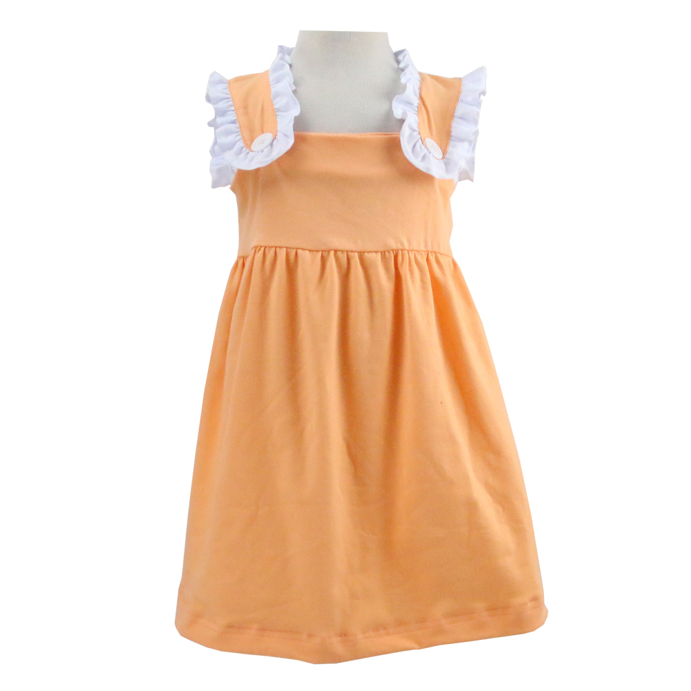 Summer Boutique cotton dress OEM service lace sleeves kids wear dress new fashion cute Dress Model 10 Year Old Girl
