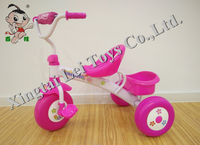 China new model thickened white frame baby tricycle color plastic wheel kids trike/factory wholesale children tricycle