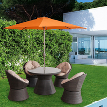 sturdy large side outdoor patio cantilever offset sun garden bistro umbrella