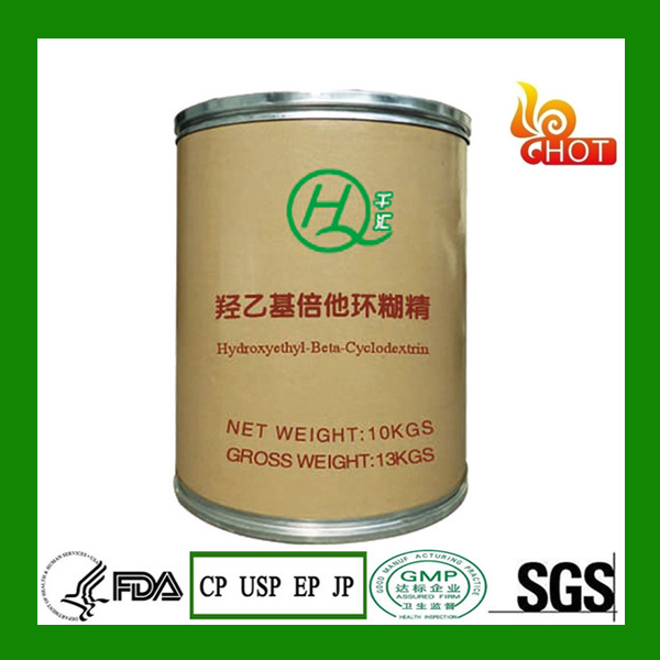 Hot selling pharmaceutical raw powders Hydroxyethyl Beta Cyclodextrin for Paint and preservatives