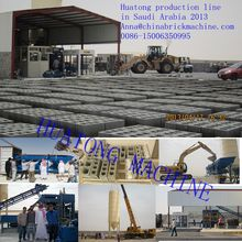 QT10-15 Concrete hollow block brick fully automatic production line for saudi arabia,algeria,lybia,Iraq