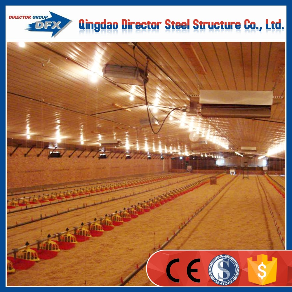 Prefab portable steel structure chicken farm barn sheds
