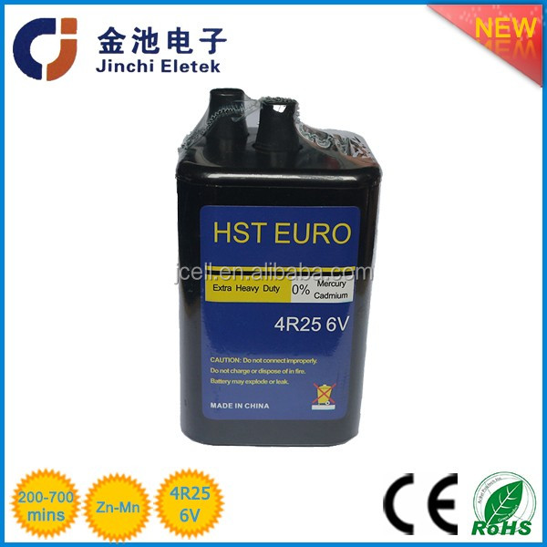 4R25 6V Zinc Carbon Battery Jinchi1500mah battery 3 7v