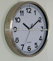 school wall clock, metal clock