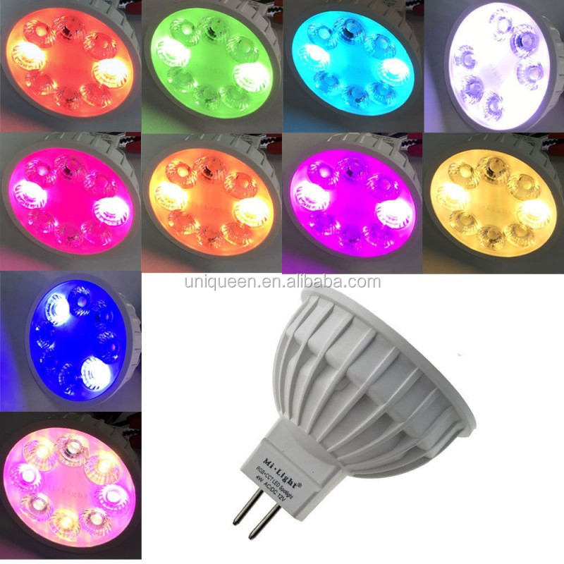 Mi Light RGBW Series 2.4G 4W MR16 Decorative Spotlight Mobile Remote Control Lamp Changing Colors Led Smart Bulb