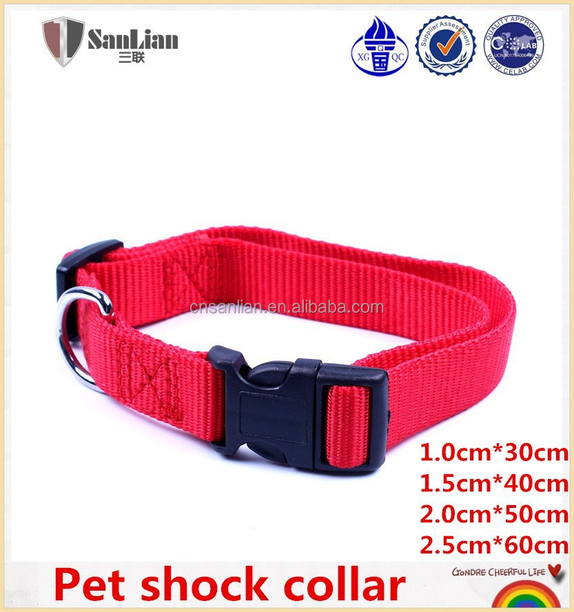 Quick release buckle pet/dog shock collar in red