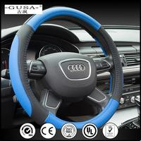 2017 New Fashion Hand make microfiber pu leather fur steering wheel cover with new reflective unique design
