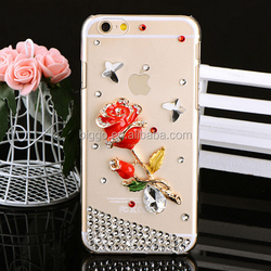 For iPhone 6 Phone Case,Crystal Hard Shell Slim Case for iPhone 6 Rose Diamond Case