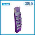 floor standing facial mask display stand with 5 tiers