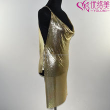 Full Body Chain Dress Harness Body Jewelry Gold Metal Dress Make Costume Body Jewelry 0412A