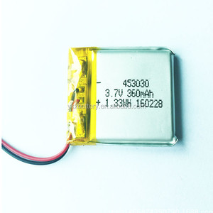 3.7v lithium polymer battery 453030 503030 553030 403030 360mAh 450mAh 3x3 Rechargeable li ion lipo li-ion battery 3.7v 380mah