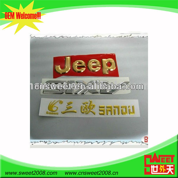 advertisment and label metallic custom 3d sticker