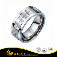 Refined Style Stainless Steel Spinner Unisex Ring with metal masters co and Comfort Fit 9mm
