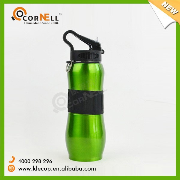 800ml Top Quality Promotion Sport Bottle Custom Stainless Steel Water Bottle Design with Silicone Rubber